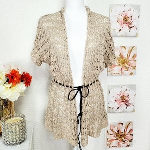 ST. JHONS BAY knitted short sleeve cardigan size M